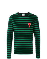 Camiseta de manga larga de rayas horizontales negra de AMI Alexandre Mattiussi