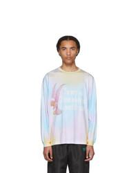 Camiseta de manga larga efecto teñido anudado en multicolor