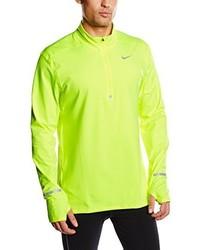 Camiseta de manga larga en amarillo verdoso de Nike