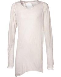 Camiseta de manga larga en beige