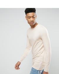 Camiseta de manga larga en beige de Asos