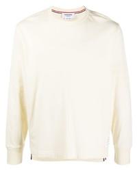 Camiseta de manga larga en beige de Thom Browne