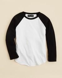 Camiseta de manga larga en blanco y negro