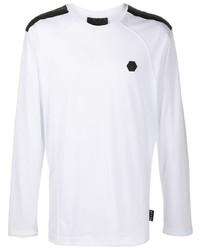 Camiseta de manga larga en blanco y negro de Philipp Plein