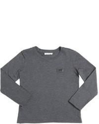Camiseta de manga larga en gris oscuro