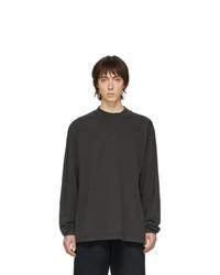 Camiseta de manga larga en gris oscuro de John Elliott