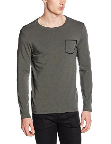 Camiseta de manga larga en gris oscuro de Karl Lagerfeld