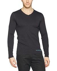 Camiseta de manga larga en gris oscuro de s.Oliver