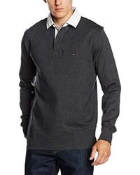 Camiseta de manga larga en gris oscuro de Tommy Hilfiger