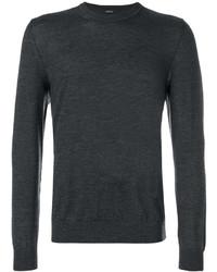 Camiseta de manga larga en gris oscuro de Z Zegna