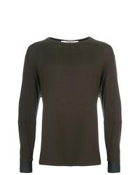 Camiseta de manga larga en marrón oscuro