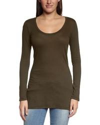 Camiseta de manga larga en marrón oscuro de Bobi