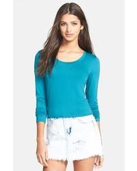 Camiseta de manga larga en verde azulado