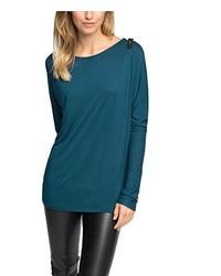 Camiseta de Manga Larga Verde Azulado de Esprit