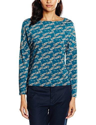 Camiseta de manga larga en verde azulado de Surkana