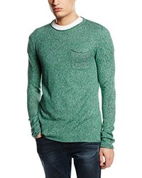 Camiseta de manga larga en verde menta de Esprit