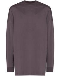 Camiseta de manga larga en violeta de Rick Owens