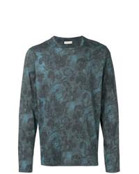Camiseta de manga larga estampada azul marino de Etro