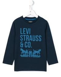 Camiseta de Manga Larga Estampada Azul Marino de Levi's