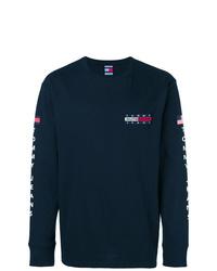 Camiseta de manga larga estampada azul marino de Tommy Jeans