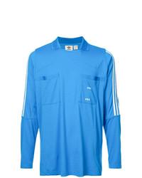 Camiseta de manga larga estampada azul de adidas