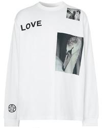 Camiseta de manga larga estampada blanca de Burberry