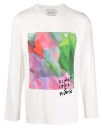 Camiseta de manga larga estampada blanca de Henrik Vibskov