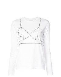 Camiseta de manga larga estampada blanca de Isa Arfen
