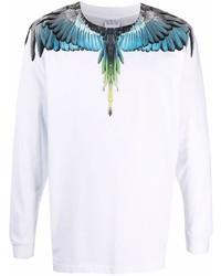 Camiseta de manga larga estampada blanca de Marcelo Burlon County of Milan