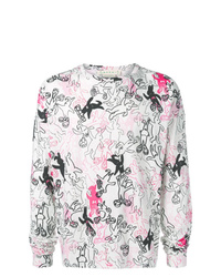 Camiseta de manga larga estampada blanca de Marni