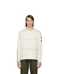 Camiseta de manga larga estampada blanca de Moncler Genius