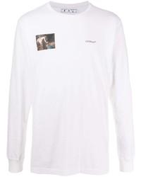 Camiseta de manga larga estampada blanca de Off-White