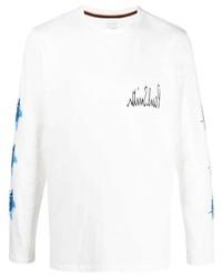 Camiseta de manga larga estampada blanca de Paul Smith