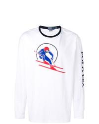 Camiseta de Manga Larga Estampada Blanca de Polo Ralph Lauren