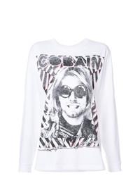 Camiseta de manga larga estampada blanca de R13