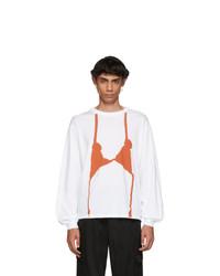 Camiseta de manga larga estampada blanca de Random Identities