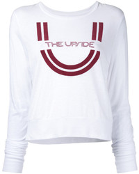 Camiseta de manga larga estampada blanca de The Upside