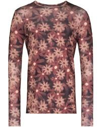 Camiseta de manga larga estampada burdeos de Jacquemus