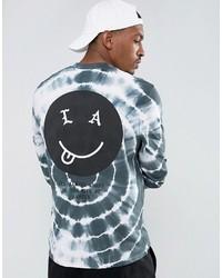 Camiseta de manga larga estampada celeste de Asos
