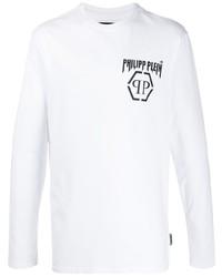 Camiseta de manga larga estampada en blanco y negro de Philipp Plein