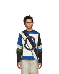 Camiseta de manga larga estampada en multicolor de Moncler Genius