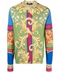 Camiseta de manga larga estampada en multicolor de Versace