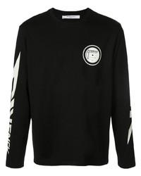 Camiseta de manga larga estampada en negro y blanco de Givenchy