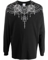 Camiseta de manga larga estampada en negro y blanco de Marcelo Burlon County of Milan