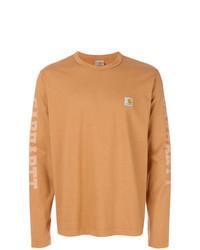 Camiseta de manga larga estampada naranja de Junya Watanabe MAN