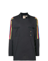 Camiseta de manga larga estampada negra de adidas