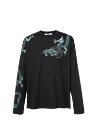 Camiseta de manga larga estampada negra de Givenchy