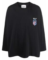 Camiseta de manga larga estampada negra de Henrik Vibskov