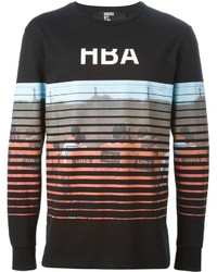 Camiseta de manga larga estampada negra de Hood by Air