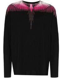 Camiseta de manga larga estampada negra de Marcelo Burlon County of Milan